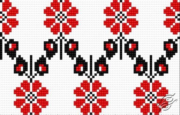 Ukrainian Embroidery - Ornament 132 by HaftiX - patterns - 00132