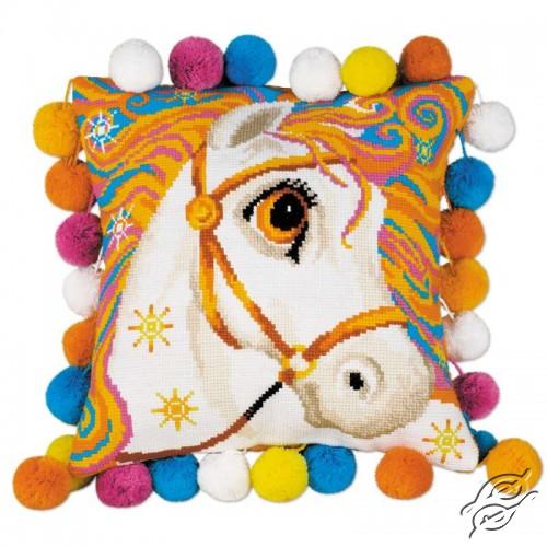 Pillow - Goldrinn Horse by RIOLIS - 1380