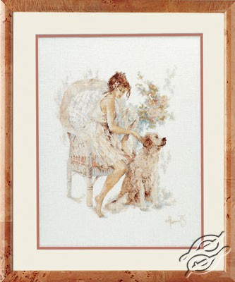 Girl In Chair With Dog by Lanarte - PN-0007951