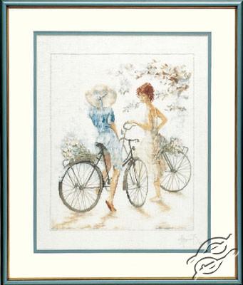 Girls On Bicycle by Lanarte - PN-0007949
