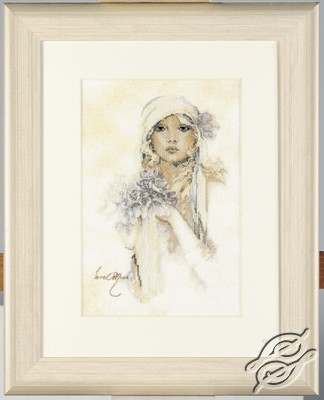 Lady with lilac flower / Sara Moon by Lanarte - PN-0008013
