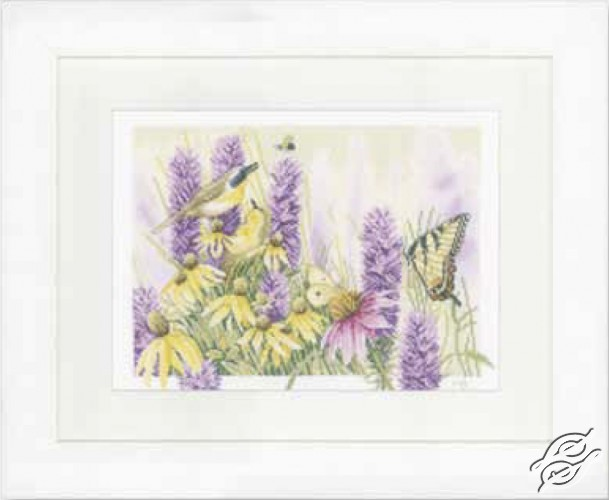 Butterfly Bush And Echinacea by Lanarte - PN-0147540