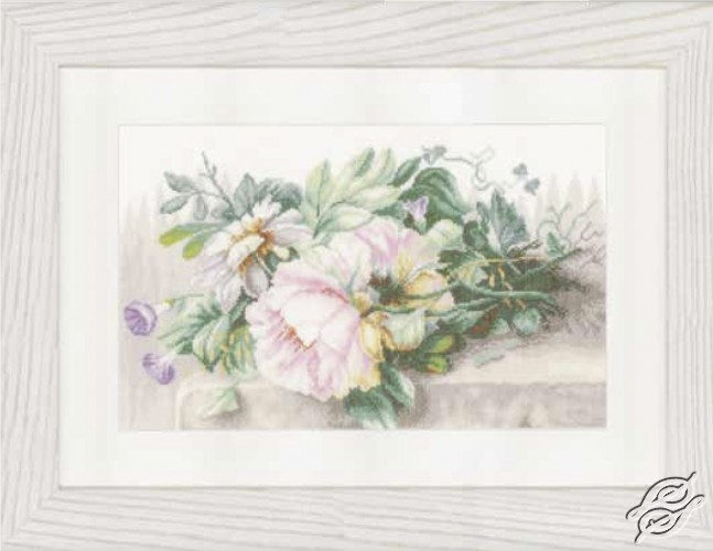 Still Life With Peonies And Morning Glory by Lanarte - PN-0147588