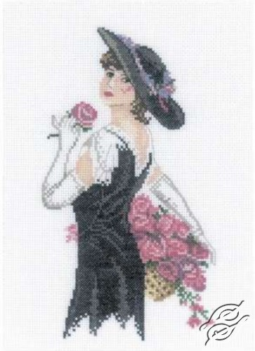 Lady with Roses by RTO - C158