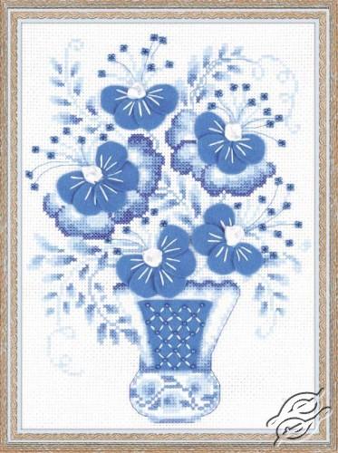 Blue Bouquet by RIOLIS - 1366
