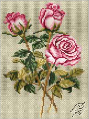 Roses on Linen by RTO - C179