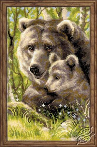 Bear with Cub by RIOLIS - 1438