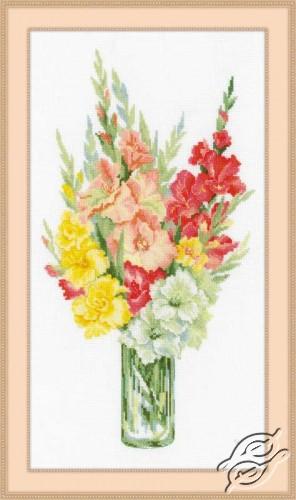 Bouquet of Gladioli by RIOLIS - 1446