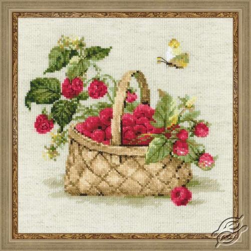 Basket with Raspberries by RIOLIS - 1448
