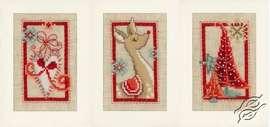 Christmas Symbols Card by Vervaco - PN-0154080