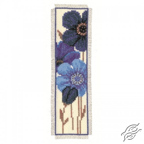 Bookmark - Blue Flowers II by Vervaco - PN-0144264