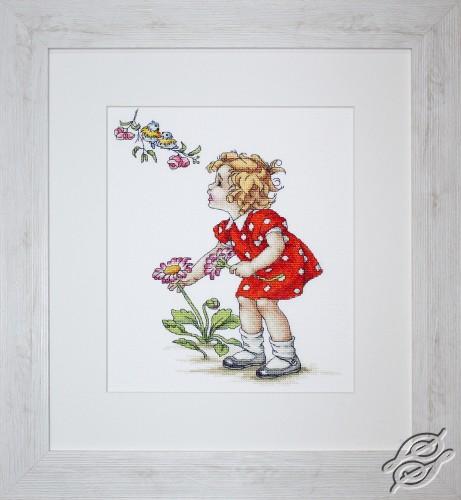 Girl in Red Dress by Luca-S - B1050