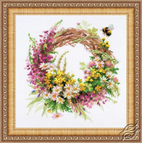 Wreath with Fireweed by RIOLIS - 1456