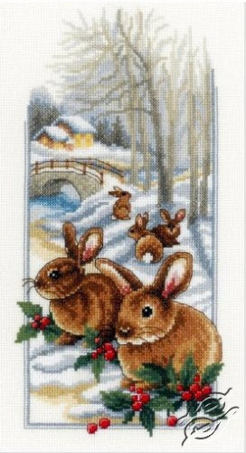 Rabbits in the Snow by Vervaco - PN-0150174