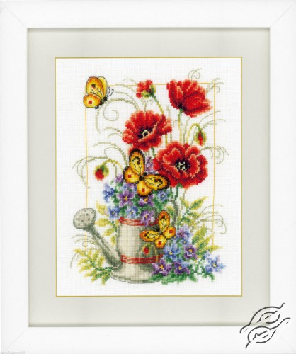 Watering Can with Flowers by Vervaco - PN-0021583