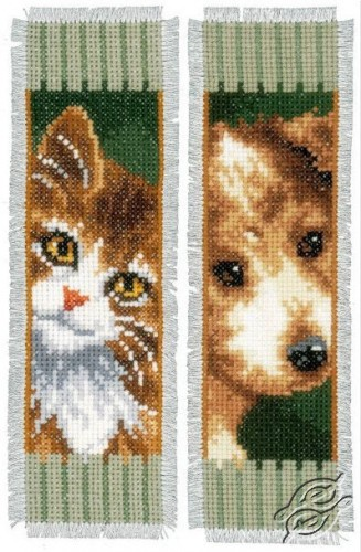 Bookmark - Cat and Dog by Vervaco - PN-0150141