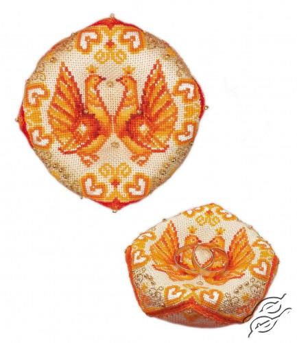 Wedding Ring Pillow by RIOLIS - 1474AC