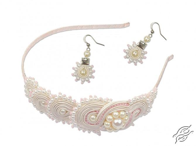 Soutache headband and earrings Sunrise of Pearls by RIOLIS - 1445AC