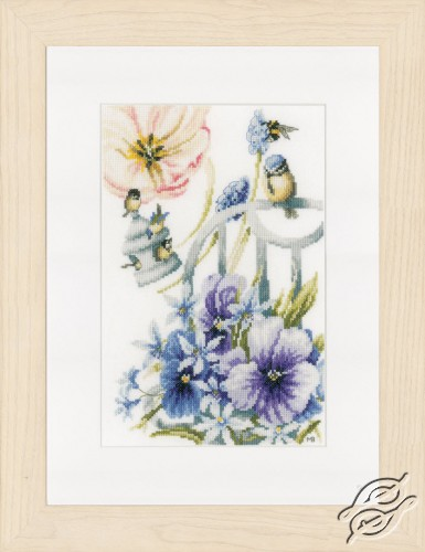 Blue Tits and Violets by Lanarte - PN-0154461