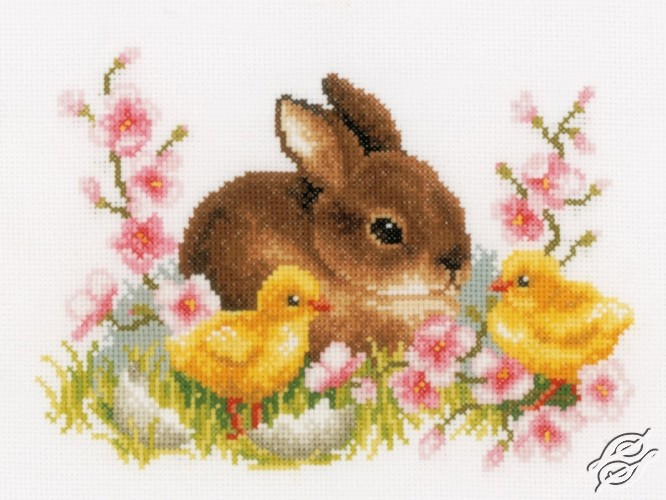 Rabbit With Chicks by Vervaco - PN-0145421