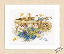 Spring Flowers Basket by Lanarte - PN-0155028