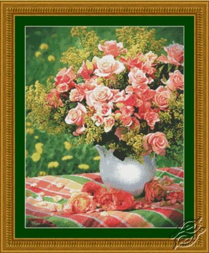 Peach Roses by Kustom Krafts - 20613