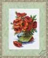 Popies in Vase by Golden Fleece - BR-008