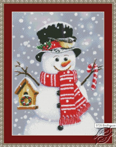 Birdhouse Snowman by Kustom Krafts - 97263