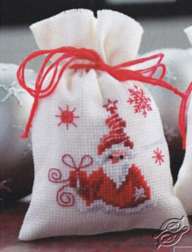 Santa with a Present by Vervaco - PN-0144326