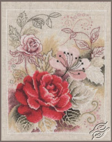 Bouquet with Rose by Vervaco - PN-0145133