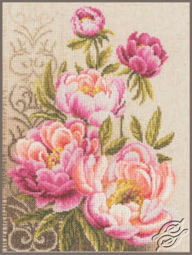Peonies and Swirls by Vervaco - PN-0147825