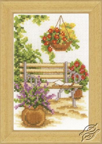At the Garden Bench by Vervaco - PN-0003719