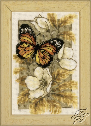 Butterfly on Flowers I by Vervaco - PN-0144770