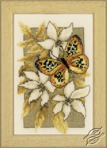 Butterfly on Flowers III by Vervaco - PN-0144949