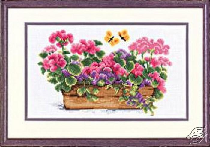 Floral Pot Geranios by Vervaco - PN-0011823