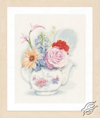 Flowers In Teapot by Lanarte - PN-0155692