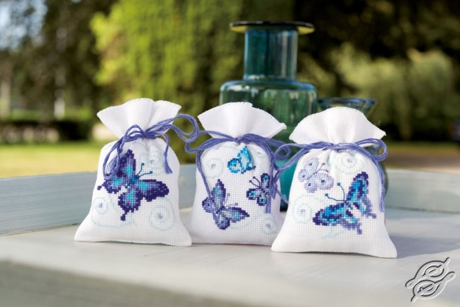 Blue Butterflies by Vervaco - PN-0146430