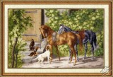 Horses At The Porch by Golden Fleece - CHM-020