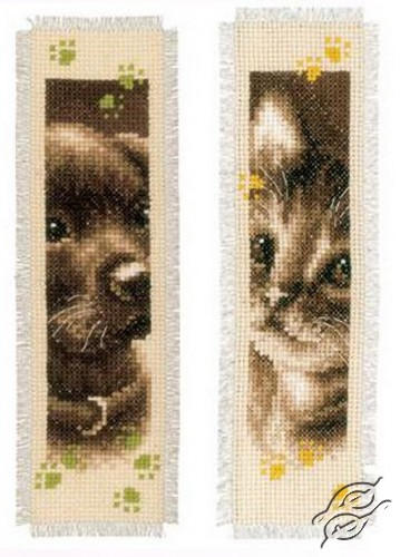 Bookmark - Cat And Dog II by Vervaco - PN-0155362