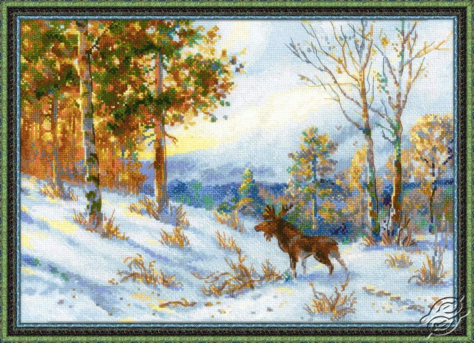 Elk in a Winter Forest by RIOLIS - 1528