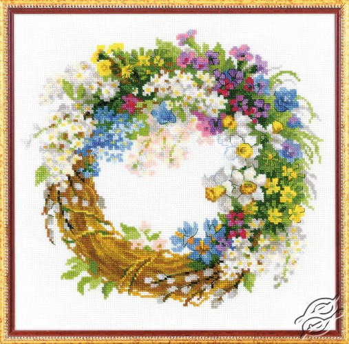 Wreath with Bird Cherry by RIOLIS - 1536