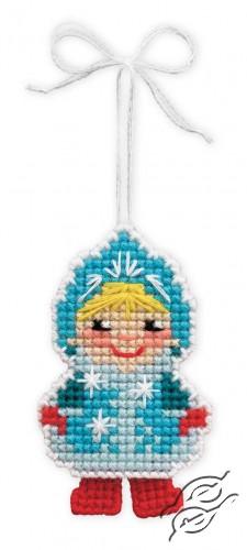 Christmas Tree Decoration Snow Maiden by RIOLIS - 1539AC