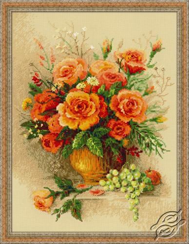 Tea Roses by RIOLIS - 100/049