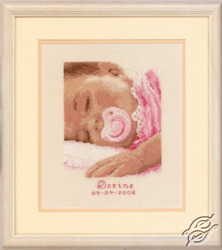 Sweet Dreams, baby girl by Vervaco - PN-0011692