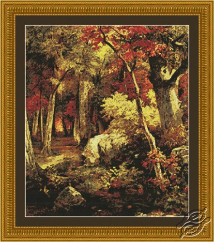 October Forest Landscape by Kustom Krafts - 97043