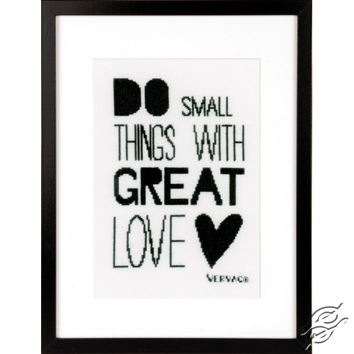 Do Small Things With Great Love by Vervaco - PN-0156395