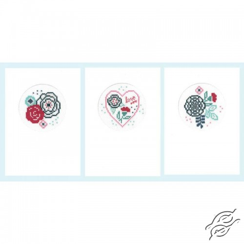 Modern Flowers Cards by Vervaco - PN-0156951