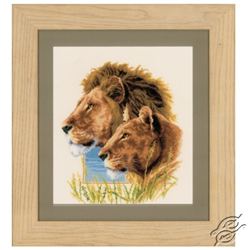 Lion Couple by Vervaco - PN-0144438