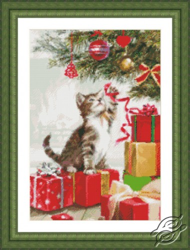 Kitten with Ribbon by Kustom Krafts - 97593