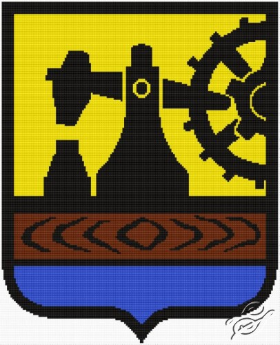 Polish Coat of Arms - Herb Katowice by Aslynn Foreignet - 000706